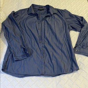 Slim fit blue pinstripe shirt